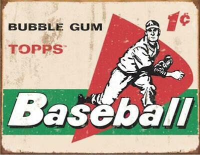 Metal Tin Sign topps baseball Pub Home Vintage Retro Poster Cafe ART 14 - Metal Home Cafe Signs