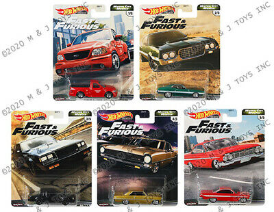 HOT WHEELS 2019 FAST AND FURIOUS FAST V8   5 CAR SET