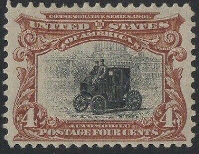 U.S.: #296 FOUR CENT MINT XF PAN AM STAMP // CV $70.00