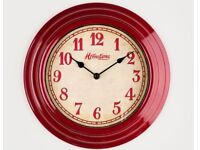 Retro Red wall clock