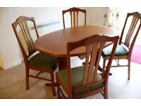 Parker Knoll Nathan Teak Dining Table & 4 Chairs