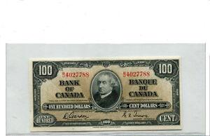 BILLET DE $100 1937 DE GRADE CH/UNC - 64  ( EXTRÊMEMENT RARE ! )