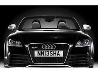 Private number plate Nisha Neesha Personal plate C63 AMG M3 S3 RS4 Q7 X5 TT A3 A4 R Ford Seat BMW