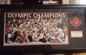 2002 Canadian Olympic Womens Hockey Team Framed Picture
