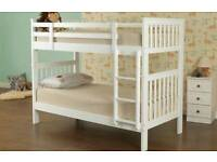 Brand new bunk beds white wooden modern