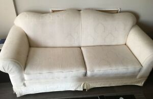 Couch and 2 chairs!  Two white pillows included