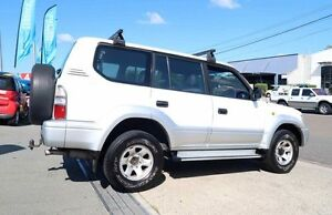 1998 Toyota Landcruiser Prado VZJ95R GXL White 5 Speed Manual Wagon Woodridge Logan Area Preview