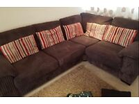 DFS jumbo cord corner sofa