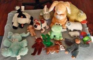 Lot of 15 Stuffed animals + a few baby toys for sale in EUC  The