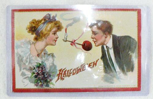 ANTIQUE 1912 HALLOWEEN UNUSED POST CARD