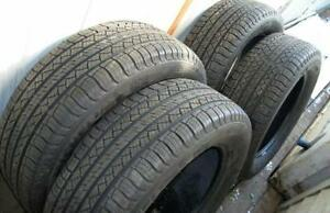 Set of 4 235/65/17 Michelin 70% tread