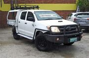 2006 Toyota Hilux KUN26R 06 Upgrade SR (4x4) White 5 Speed Manual Dual Cab Chassis Upper Ferntree Gully Knox Area Preview