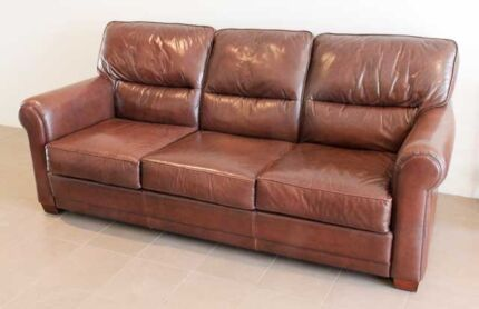 Moran 3 Seater Leather Sofa ( As New ) North Beach Stirling Area Preview