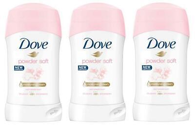 Dove Polvo Suave Adhesivo Desodorante Antitranspirante Mujer 3 Pack