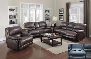 3 PC LEATHER AIR RECLINER SOFA SET $2198