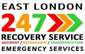 EAST LONDON CAR RECOVERY 24HOUR VAN BREAKDOWN VEHICLE TRUCK TOW TOWING ASSISTANT TRANSPORTER SERVICE