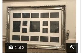 Silver wall mounted frame