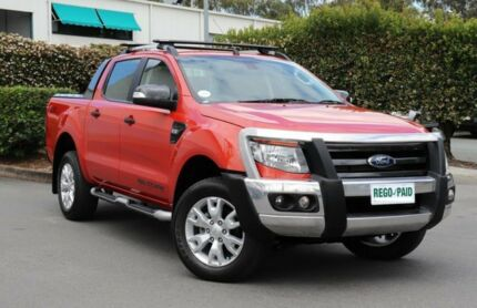 2015 Ford Ranger PX Wildtrak Double Cab Orange 6 Speed Sports Automatic Utility Acacia Ridge Brisbane South West Preview