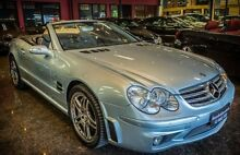 2005 Mercedes-Benz SL R230 65 AMG Diamond Silver 5 Speed Auto Speedshift Convertible South Melbourne Port Phillip Preview