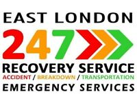 EAST LONDON CAR RECOVERY BREAKDOWN TOWING TRUCK 24/7 SERVICE TRANSPORTER