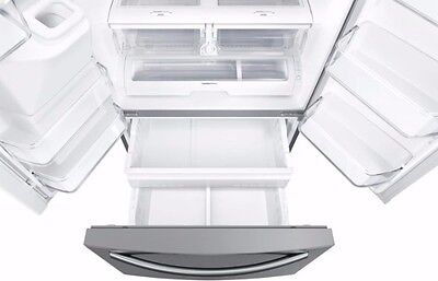 samsung family hub 24.2 cu ft 3 door french refrigerator