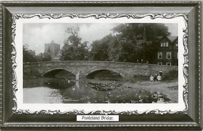 REAL PHOTOGRAPHIC POSTCARD OF PONTELAND BRIDGE, NORTHUMBERLAND, MONARCH #9114