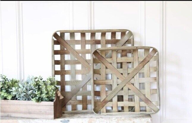 Natural TOBACCO BASKET ~Small Basket Only ~ Farmhouse Chic Decor!