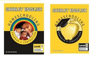 Shurley English Level 1 Homeschool Student Workbook and Practice Booklet     NEW