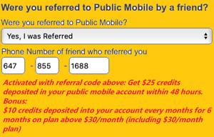 Public mobile referral code: 6478551688 - $85 credits