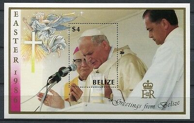 Belize 1986 Papst Johannes Paul II. Pope John Paul Block 77 Postfrisch MNH