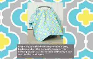 Car Seat Canopy Blue or Kennedy Color available Cornwall Ontario image 1