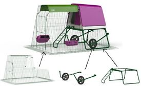 Omlet Eglu Go Up with 2M run and wheels only two months old and like new save £150 on rrp