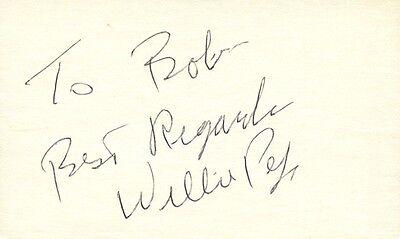 WILLIE PEP Autograph