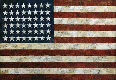 Flag 1954 by Jasper Johns Patriotic America U.S.A Americana Print Poster 38x29