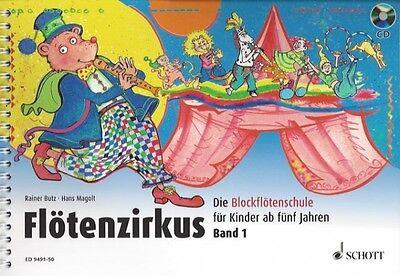 Flötenzirkus Band 1, die Blockflötenschule für Kinder ab fünf Jahren, ED 9491-50