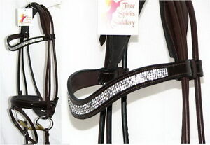 FSS-SHINING-Curve-U-CRYSTAL-BLING-Rolled-Crank-Comfort-BROWN-PATENT-GLOSS-Bridle