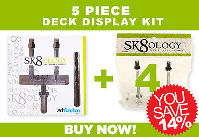 Display Wall Mounting Kit - SK8OLOGY SKATEBOARD DECK DISPLAY 5 Pc Kit Floating wall Mount
