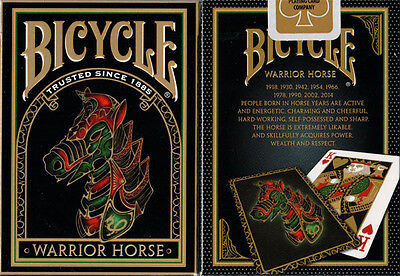1 Deck Bicycle Warrior Horse Standard Poker Playing Cards New Sealed Deck