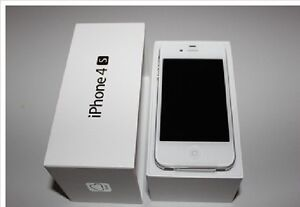 iPhone 4s white 16gb Rogers charger earphone complete in box