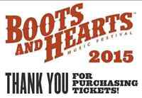 Boots and Hearts Event Wristband