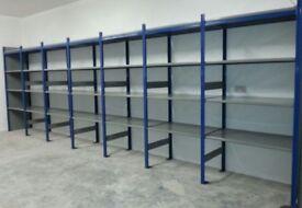 Used Heavy Duty Metal Shelving - 100kg Per Shelf