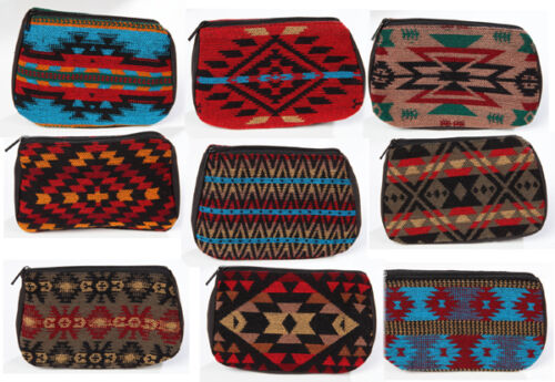 """Southwest Style Multi Color Cosmetic Make Up Bag/Accessory Bag 5"""" x 7"""""""