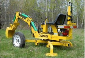 pull type mini-excavator
