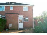 SPACIOUS UNFUNRISHED 3 BEDROOM END OF TERRACE HOUSE WITH GARAGE AND GARDEN SITUATED IN CORFE MULLEN