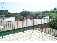 SPACIOUS UNFURNISHED 3 BEDROOM FIRST FLOOR FLAT WITH SUNNY BALCONY IN WEST PARLEY