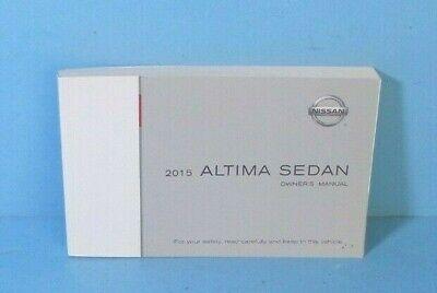 15 2015 Nissan Altima Sedan owners manual -