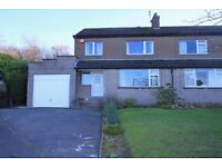 3 bedroom semi detached house with large private south facing gardens in Brighouse. Private Sale
