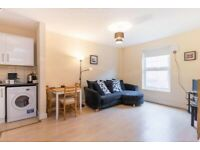 Recently redecorated one double bedroom apartment with private roof terrace
