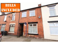 4 DOUBLE BEDROOMED student terrace within ideal walking distance of University. BILLS INCLUSIVE!