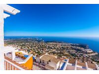 Panorama 4. and romantic apartment with communal pool in Benitachell, on the Costa Blanca, Spain